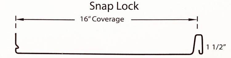 snap lock metal roofing panel penrose